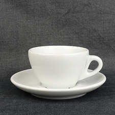 Cappuccino-Tasse »Jolly« | weiss | Made in Italy | Ancap...